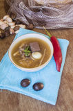 Fish maw soup, chinese food Royalty Free Stock Images