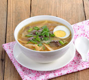 Fish maw soup Stock Images