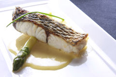 Fish meal, perch with butter Royalty Free Stock Photo