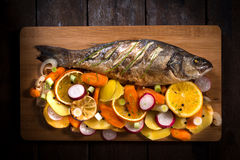 Fish meal Stock Images