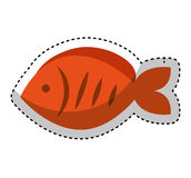 Fish meat food isolated icon. Illustration design Royalty Free Stock Photos