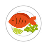 Fish meat food isolated icon. Illustration design Stock Photography