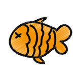 Fish meat isolated icon. Illustration design Royalty Free Stock Photography