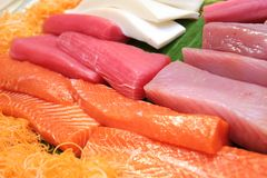 Fish meat for sashimi stock photo