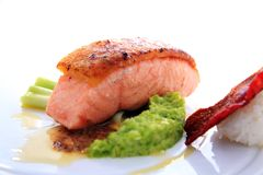 Fish meat smoked salmon fish Royalty Free Stock Photos