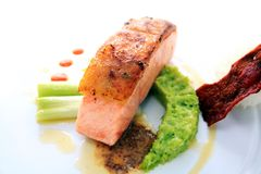 Fish meat smoked salmon fish Royalty Free Stock Images