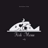 Fish Menu. Paper Menu only fish design pattern Royalty Free Stock Photography