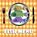 Fish menu Royalty Free Stock Photo
