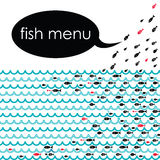 Fish menu. Ideal  background for the menu of your fish restaurants Royalty Free Stock Photos