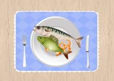 Fish menu restaurant. Illustration of fish menu restaurant Stock Photography