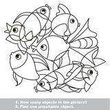 Fish mishmash set in vector. Royalty Free Stock Images