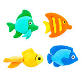 Fish modelling clay on a White Background Stock Photography