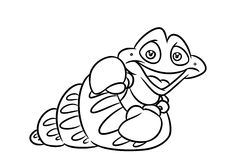 Fish  mollusk coloring page cartoon Illustrations Stock Images