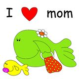 Fish with mom Stock Photography