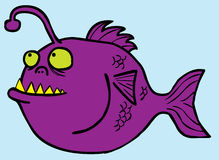 Fish Monster. Represent a deep water predator (angler fish) waiting for its preys Royalty Free Stock Photos