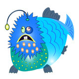 Fish monster character vector Stock Photography