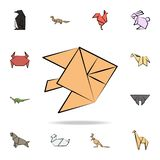 fish moon colored origami icon. Detailed set of origami animal in hand drawn style icons. Premium graphic design. One of the vector illustration