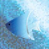 Fish on mosaic background Stock Photo