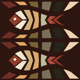 Fish mosaic seamless pattern Royalty Free Stock Photo