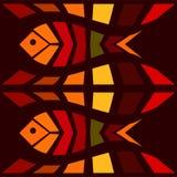 Fish mosaic seamless pattern Stock Photography