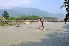 Fish Mouth Levee in Dujiangyan Irrigation System Royalty Free Stock Images