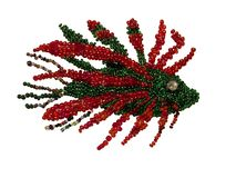 Fish from multi-colored beads handmade royalty free stock image