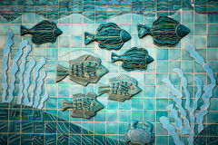 Fish Mural Royalty Free Stock Photo