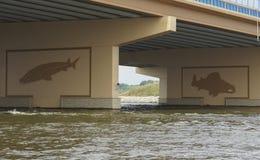 Fish Mural on Bridge Royalty Free Stock Photos