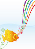 Fish and music. Singing fish in the water Royalty Free Stock Photography
