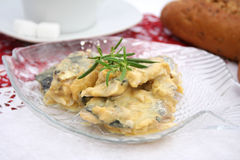 Fish with mustard sauce Stock Photo
