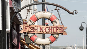 Fish n chips retro sign