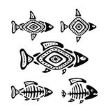 Fish in the native style, vector illustration. Black fish in the native style, vector illustration Stock Photography