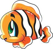 Clown Fish - Cute sea life cartoon collection under water animal characters royalty free illustration