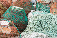 Fish nets background Royalty Free Stock Image