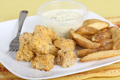 Fish Nuget Meal Stock Images