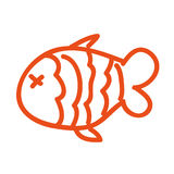 Fish nutritive food isolated icon. Vector illustration design Stock Images