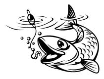 Fish oh hook Stock Images