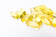 Fish oil capsule Royalty Free Stock Photos