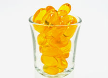 Fish oil capsules Royalty Free Stock Image