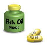 Fish oil capsules Royalty Free Stock Photos