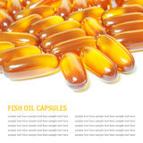 Fish oil capsules isolated on white background Stock Photography