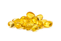 Fish oil capsules isolated on white background royalty free stock images