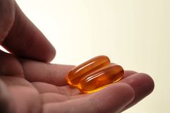 Fish oil omega 3 capsules pills tablets Royalty Free Stock Photography