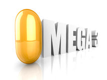 Fish oil omega 3 gel capsule on white background Royalty Free Stock Photos