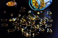 Fish oil omega 3 gel capsules, Stock Photos