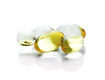 Fish oil pill Royalty Free Stock Image