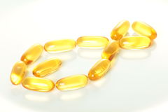 Fish oil pills Stock Photo