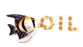 Fish oil pills Stock Photography