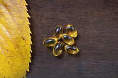 Fish Oil Pills Royalty Free Stock Photography