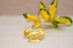 Fish Oil Pills Royalty Free Stock Images